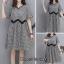 ชุดเดรสเกาหลี พร้อมส่ง Dress เดรสลายสก๊อต แต่งผ้าลูกไม้ thumbnail 6