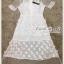 ชุดเดรสเกาหลี พร้อมส่ง Dress ชุดกระโปรงสุดหวานสีขาว thumbnail 9