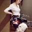 พร้อมส่ง เสื้อผ้าเกาหลี เสื้อสีขาวแขนยาว thumbnail 4