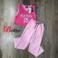 เสื้อผ้าเกาหลี พร้อมส่ง Set เสื้อ+กางเกงพิมพ์ลาย thumbnail 6