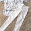 พร้อมส่ง เสื้อพิมลายกับกางเกงสีขาว thumbnail 7