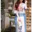 เดรสเกาหลี พร้อมส่ง Dress ปริ้นลาย thumbnail 6