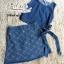 พร้อมส่ง เสื้อกระโปรงยีนส์ผูกโบว์ข้าง thumbnail 12