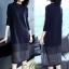 เดรสเกาหลี พร้อมส่ง Dress คอกลม แขนยาว ทรงตรง thumbnail 6