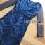 พร้อมส่ง เดรสผ้าทูลลูสีน้ำเงินปักลายและเลื่อม thumbnail 9