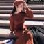ชุดเดรสเกาหลี พร้อมส่ง Dress ผ้าไหมพรมงาน Knit thumbnail 6