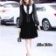 เดรสเกาหลี พร้อมส่ง Dress คอลใหม่ ตกแต่งโบว์ใหญ่ thumbnail 3