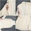 เสื้อเกาหลี พร้อมส่ง เสื้อคลุม แต่งลายปักดอกไม้เก๋ๆ thumbnail 5