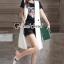 เสื้อผ้าเกาหลี พร้อมส่ง เสื้อยืดกับกางเกงขาสั้นเอวสม็อก thumbnail 11