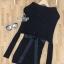 พร้อมส่ง Mini dress ไหมพรมทรงสวย thumbnail 9