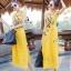 พร้อมส่ง ชุด Maxi Dress สีเหลืองแขนกุด thumbnail 2