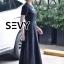 พร้อมส่ง Maxi dress สีดำคอกลมแขนสั้น thumbnail 4