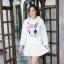 เสื้อเกาหลี พร้อมส่ง จั้มเปอร์ฮู้ด ลายกระต่าย thumbnail 11