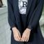 เสื้อผ้าเกาหลี พร้อมส่ง เสื้อคลุมBazer+กางเกงขาสั้น thumbnail 9