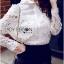 พร้อมส่ง เสื้อแฟชั่น เสื้อเกาหลี เชิ้ตขาวผ้าตาข่าย thumbnail 7