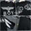 พร้อมส่ง เสื้อตัวยาวทางใส่หลวมๆ งานสกรีนBoy thumbnail 7
