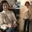 เสื้อเกาหลี ผ้าแก้ว ทรงแขนพอง พร้อมส่ง thumbnail 3
