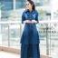 ชุดเดรสเกาหลี พร้อมส่ง Maxi Dress ยีนส์ระบาย thumbnail 3