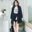 เสื้อผ้าเกาหลี พร้อมส่ง เสื้อคลุมBazer+กางเกงขาสั้น thumbnail 5