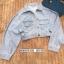 เสื้อเกาหลี Jacket ยีนตัวสั้นสียีนอ่อนๆ พร้อมส่ง thumbnail 7