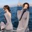ชุดเดรสเกาหลี พร้อมส่ง เดรสยาว ไหมพรม คอวี thumbnail 4