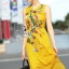 พร้อมส่ง ชุด Maxi Dress สีเหลืองแขนกุด thumbnail 5