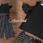 เสื้อผ้าเกาหลี พร้อมส่ง เสื้อสีดำเกงจุด เสื้อสีขาวเกงริ้ว thumbnail 3