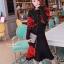 เสื้อผ้าเกาหลี พร้อมส่ง Set เสื้อคาดิแกน+กระโปรง thumbnail 1
