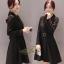 ชุดเดรสเกาหลี พร้อมส่ง Dress คอปก แขนยาว thumbnail 3
