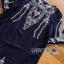 พร้อมส่ง เดรสผ้าคอตตอนสีน้ำเงิน thumbnail 8