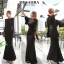 ชุดเดรสเกาหลี พร้อมส่ง maxi dress ยาวสีดำ thumbnail 5