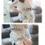 พร้อมส่ง เสื้อขาวปักฉลุลายกุหลาบ แขนศอก thumbnail 2