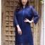 ชุดเดรสเกาหลี พร้อมส่ง Dress ลูกไม้ ลายทางฉลุ thumbnail 13