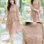 ชุดเดรสลูกไม้ พร้อมส่ง Lace Dress ทรงบาน thumbnail 3