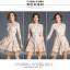 ชุดเดรสเกาหลี พร้อมส่ง เดรสผ้าลูกไม้ ลายดอกไม้สีครีม thumbnail 5