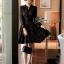 พร้อมส่ง Mini dress ลูกไม้แขนยาวสีดำ thumbnail 4