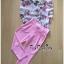 พร้อมส่ง เสื้อผ้าเกาหลี เสื้อลายดอกไม้โทนสีชมพู thumbnail 5