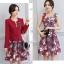 เสื้อผ้าเกาหลี พร้อมส่ง เสื้อสูทและเดรส สีแดงเข้ม thumbnail 4