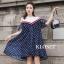 เดรสเกาหลี พร้อมส่ง Mini dress เปิดไหล่ ทรงหลวมๆ thumbnail 1