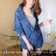 เสื้อเกาหลี พร้อมส่ง เสื้อเชิ้ตยีนส์ 2 สี thumbnail 8