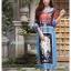 เดรสเกาหลี พร้อมส่ง Dress ปริ้นลาย thumbnail 4