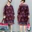 เดรสเกาหลี พร้อมส่ง Dress คอวี แขน5ส่วน thumbnail 1