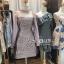 ชุดเดรสเกาหลี พร้อมส่ง Dress ชุดกระโปรง แขนยาวซีทรู thumbnail 7