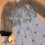 Dress ชุดเดรสเกาหลี พิมพ์ลายริ้ว พร้อมส่ง thumbnail 4