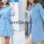เดรสเกาหลี พร้อมส่ง Mini Dress ชุดมินิเดรสยีนส์ thumbnail 5