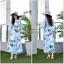 ชุดเดรสเกาหลี พร้อมส่ง Maxi Dress ลายดอก thumbnail 10