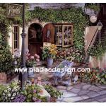 กระดาษสาพิมพ์ลาย สำหรับทำงาน เดคูพาจ Decoupage แนวภาพ เบื้องหลังร้านขายดอกไม้ ย่อมมีดอกไม้งามแอบซ่อนอยู่ อิอิ A5