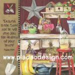 กระดาษอาร์ตพิมพ์ลาย สำหรับทำงาน เดคูพาจ Decoupage แนวภาำพ ฟักทองสองลูก เหยือกกาแฟขนาดใหญ่ และจานอาหารบนเก้าอี้ไม้ไผ่สุดคลาสสิค (ปลาดาวดีไซน์) A5
