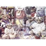 กระดาษสาพิมพ์ลาย สำหรับทำงาน เดคูพาจ Decoupage แนวภาพ หมีหนุ่ม หมีสาว มา fitting เสื้อผ้าเตรียมใส่เล่นละคร A5
