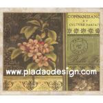 กระดาษสาพิมพ์ลาย สำหรับทำงาน เดคูพาจ Decoupage แนวภาำพ ดอกไม้สีชมพู บนซองจดหมายส่งไปปารีส Paris สไตล์วินเทจ (ปลาดาวดีไซน์) A5
